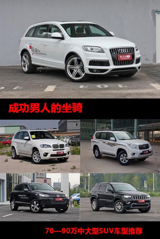 70-90万中大型SUV车