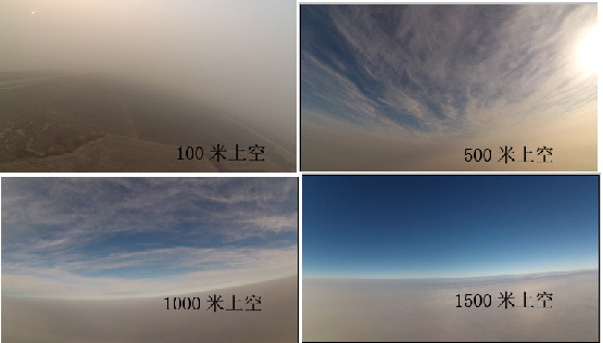雾霾天拍摄省会上空