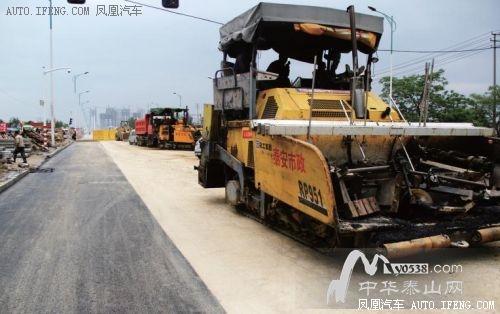 泰安南外环施工路段