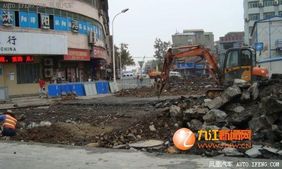九江开发区 道路维修