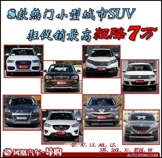 8款热门城市SUV促销