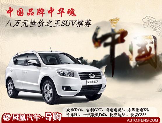 八万元性价王SUV推荐