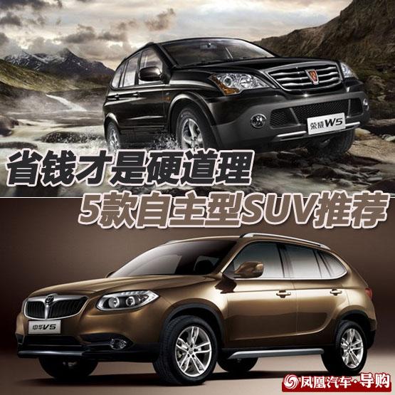 5款自主型SUV推荐