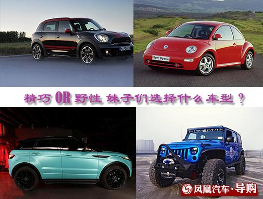 妹子们选择什么车型