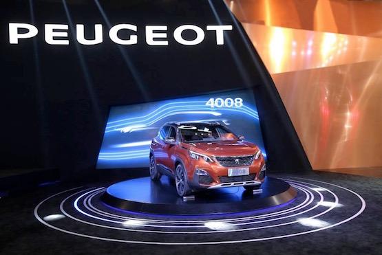 先声夺人东风标致4008全球首发惊艳车展
