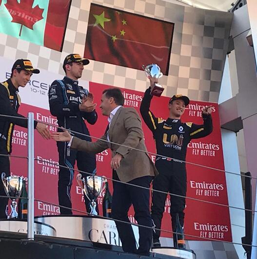 周冠宇成为登上F2领奖台的中国第一人