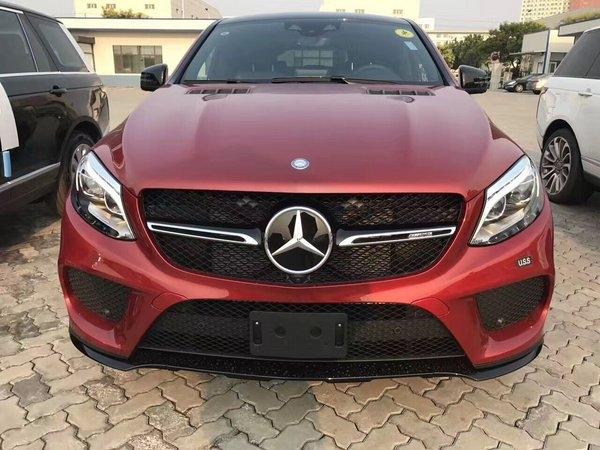 17款奔驰GLE43红色 高性能SUV七月最低价-图1