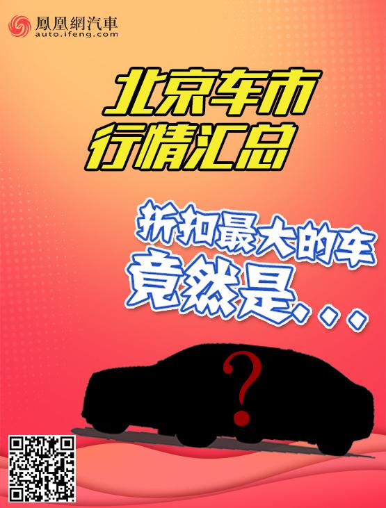 折扣最大的车竟是…北京车市行情汇总