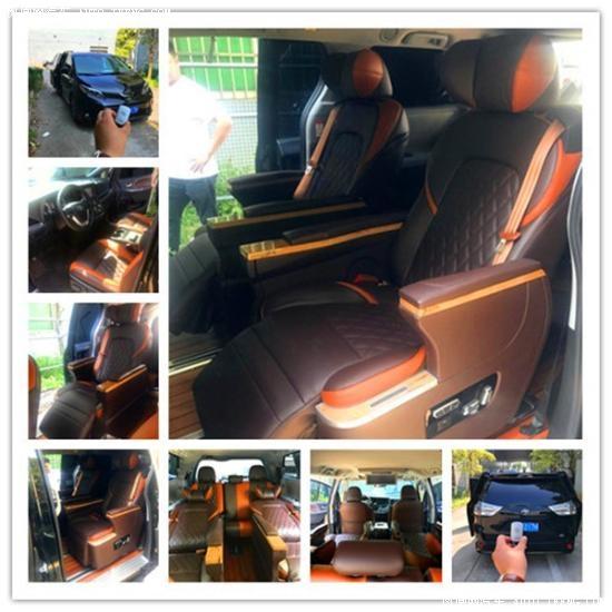 新款奥迪Q7改装航空  座椅保留后排效果图